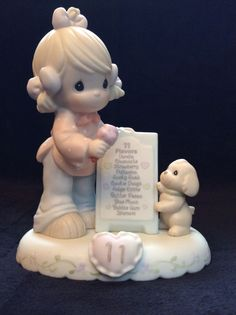 """""""Growing In Grace Age 11"""" Precious Moment Figurine"""