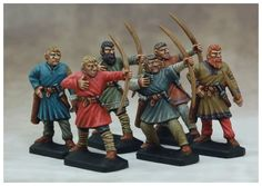 This product contains thirty Dark Age Archer miniatures. Inside you will find parts to assemble 30 finely-detailed archers. Dark Ages, Gripping Beast, 28mm Miniatures, Carolingian, Anglo Saxon, Saga, Fantasy, Middle Ages, Medieval