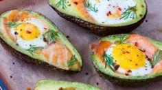 Salmon + Egg Baked Avocados for Balanced Hormones & Glowing Skin! Smoked Salmon Recipes, Avocado Recipes, Egg Recipes, Clean Recipes, Cooking Recipes, Healthy Recipes, Healthy Fats, Healthy Eating, Avocado Dessert