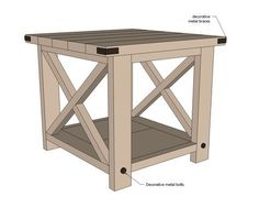 Ana White Build A Rustic X End Table Free And Easy Diy Project Furniture Plans Home Pinterest Projects