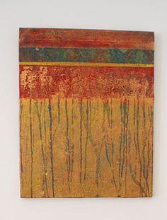 "Leinwand ""Goldregen"" -- Canvas ""golden rain"""