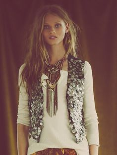 Free People Moneymaker Coin Vest at Free People Clothing Boutique