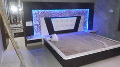 Beds Wood Bed Design, Bed Frame Design, Bedroom Bed Design, Bedroom Furniture Design, Modern Bedroom Design, Bedroom Decor, Tv Unit Furniture, Bed Furniture, Lcd Unit Design