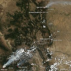 NASA and NOAA satellites capture images of wildfires across the western United States