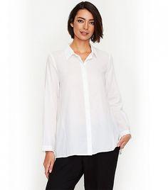 Eileen Fisher Classic Collared Shirt ($198)