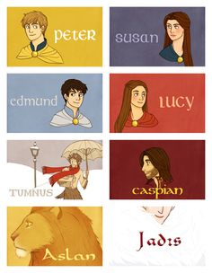 The main characters of The Chronicles of Narnia.