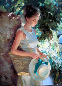 Vladimir Volegov - Over the past fourteen years, his Art has evolved into the striking figurative work he creates today. Vladimir's vibrant color palette and bold strokes coalesce to create evocative images that possess a timeless sensibility.