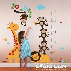 Children Growth Chart Sticker – Children Wall Decals – evgie