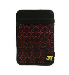 JT Magic Wallet Love Garden Color: Red and Golden #couro #bordado #fashion #accessories #moda #style #design #acessorios #leather #joicetanabe #carteira #carteiramagica #courolegitimo #wallet