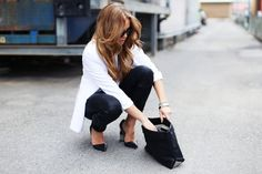 black and white look #style