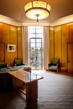 Clement steel windows in the Mayors office in Norwich City Hall. Metal Windows, Windows And Doors, Office Interior Design, Office Interiors, Steel Doors, Steel Metal, City, Building, Furniture