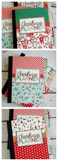 DIY Christmas Planner - - - Make these adorable DIY Christmas Planners in just an hour or two! Includes instructions and all the free printables. Grab your friends and plan a fun craft night! Diy Christmas Planner, Holiday Planner, Christmas Planning, Christmas Printables, Planner Diy, Printable Planner, Happy Planner, Wrapping Ideas, Christmas Activities