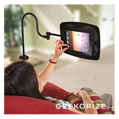 The Deluxe iPad/eBook Floor Stand extends over your furniture and holds your electronic device hands-free in an infinite number of positions. $158.95