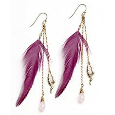 Long Feather Earrings are so much in trend in Feather Earrings Trends . ladies love to wear Long Feather Earrings therefore . Feather Jewelry, Feather Earrings, Beaded Earrings, Gold Earrings, Chain Earrings, Beaded Jewelry, Fashion Earrings, Fashion Jewelry, Stylish Jewelry