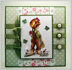 Gorgeous card with one of those New Hobby House Toppers Pretty Cards, Cute Cards, Hobby House, Whimsy Stamps, Digi Stamps, Shabby Chic Cards, Cross Stitch Cards, Kids Birthday Cards, Marianne Design