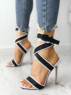 """ef7f01d3349    Cheap Sale OFF!    Visit   hottest-shoes  """"Shop Open Toe Crisscross  Bandage Stiletto Sandals right now get great deals at Joyshoetique."""