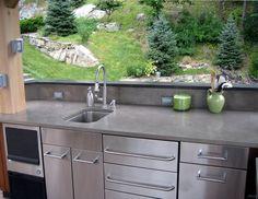 Outdoor Concrete Countertops -