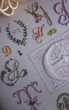 If only I had the patience to be this good... Some days I miss the days of yore and young girls making samplers. Elizabeth Hand Embroidery