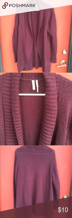 Nordstrom Frenchi Maroon Cardigan XL Purchased in the Brass Plum dept., so the XL is more of a junior's XL. Frenchi Sweaters Cardigans