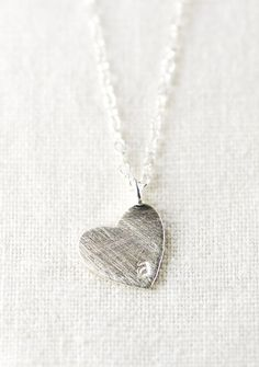 Kuuipo necklace silver heart initial