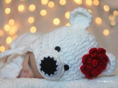 Crochet polar bear hat - free pattern