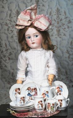 Antique Doll. GERMAN BISQUE FLIRTY-EYED DOLL BY KAMMER & REINHARDT