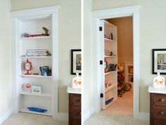 Young House Love | Speaking of bookshelves, in the nearby boys room there's one that acts as a secret doorway…
