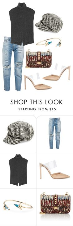 paperboy by astridlund on Polyvore featuring Brunello Cucinelli, Levi's, Gianvito Rossi, Valentino and August Hat