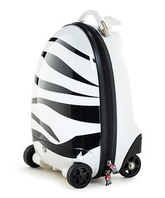 This Zebra Remote Control Suitcase by Best Ride On Cars is perfect! #zulilyfinds