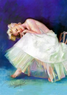 Marilyn Monroe Portrait  Original by Famous Artist Haiyan-Pastel 17x21. | This image first pinned to Marilyn Monroe Art board, here: http://pinterest.com/fairbanksgrafix/marilyn-monroe-art/ || #Art #MarilynMonroe