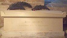 Tumba de Jaurès en París.