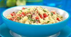 Δροσερή σαλάτα με κους κους και λαχανικά