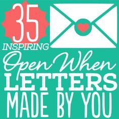 """Love the """"open when..."""" Letter idea!"""