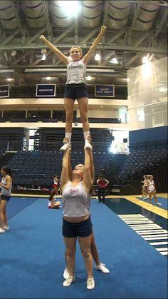 single base stunt. My girls will perfect this, this season.