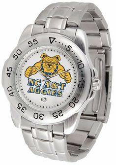 North Carolina A State University Aggies Sport Steel Band - Men's - Men's College Watches by Sports Memorabilia. $50.76. Makes a Great Gift!. North Carolina A State University Aggies Sport Steel Band - Men's