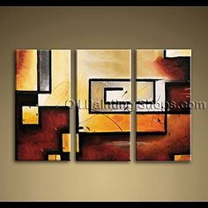 #Abstract #Oil #Paintings Art Wall 3-piece Abstract Modern Gallery Wrapped Canvas Art By Bo Yi Gallery, 28 By 44-inch Bo Yi Gallery http://www.amazon.com/dp/B00LSY0KMK/ref=cm_sw_r_pi_dp_fQgXtb06H3VC1Y4V