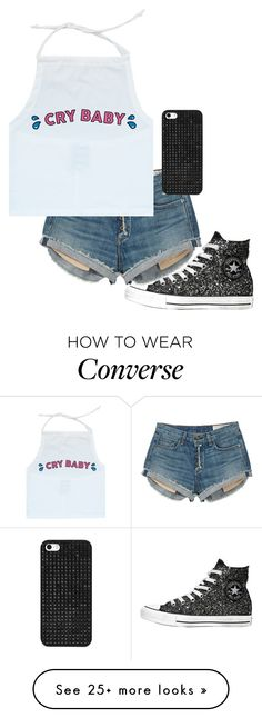 """""""Cry Baby (READ D)"""" by vlhuerta on Polyvore featuring rag & bone, Converse and BaubleBar"""