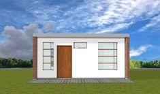 Fachada de casa pequeña House Floor Plans, Tuscany, Tiny House, My Design, Garage Doors, Construction, Exterior, Patio, Flooring