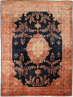 Antique Sarouk Persian Rug 43329 Main Image - By Nazmiyal