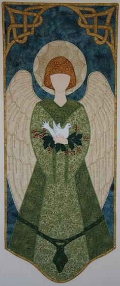 """""""Be careful what you set your heart upon - for it will surely be yours.""""     Christian Quotation by - James Baldwin ~~  Christmas Angel by Laurie Tigner (quilt)"""