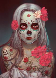 Dia de los Muertos by Qinni.deviantart.com on @DeviantArt