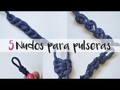 Cómo hacer 5 nudos para pulseras paso a paso. Bisutería. 2/2 - YouTube