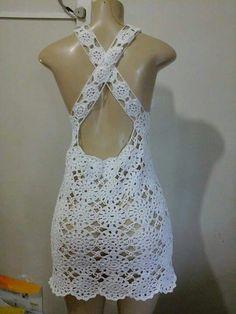 H - Salvabrani Crochet Bikini Pattern, Crochet Romper, Black Crochet Dress, Crochet Halter Tops, Crochet Bikini Top, Crochet Blouse, Crochet Clothes, Crochet Top, Filet Crochet