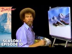 Layers and layers of mountains, as far as the eye can see -- Bob Ross shows us the secret to creating a larger-than-life landscape. Season 7 of The Joy of Pa. Bob Ross Show, Pinturas Bob Ross, Bob Ross Youtube, Robert Ross, Bob Ross Quotes, Bob Ross Paintings, The Joy Of Painting, Layered Bob Hairstyles, Chalk Pastels