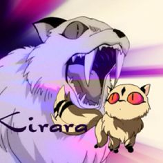 Kirara, from Inuyasha. Cute as a button, and can also eat your face off. The perfect pet. ;)