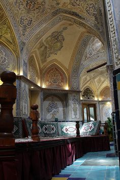 Interior, Sultan Mir Ahmed Hammam, Kashan, Iran | Flickr - Photo Sharing!
