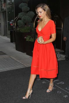 Jessica Alba - red dress.............I love this dress, I love the color, the…