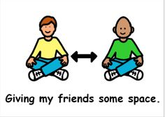 A Social Story about personal space. Great for children with additional needs such as Autism.