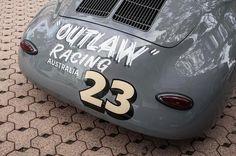 Porsches, old race cars, bikes, etc. Appreciator of all things automotive. Porsche 356 Outlaw, Outlaw Racing, Old Race Cars, Automotive Art, Kustom, Chevrolet Logo, Logos, Caravan, Hot Rods