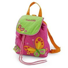 Embroidered Butterfly Quilted Backpack , Add a Monogram, Name or Initials